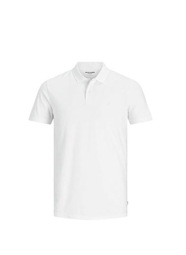 Jack & Jones Tişört Jjebasic 12136516-Wht Beyaz